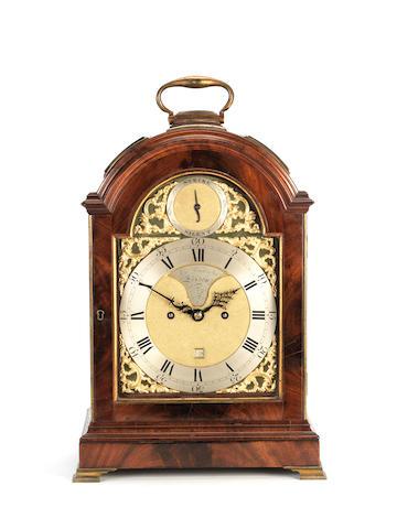 A late 18th century triple pad mahogany bracket clock John Arnold & Son, London