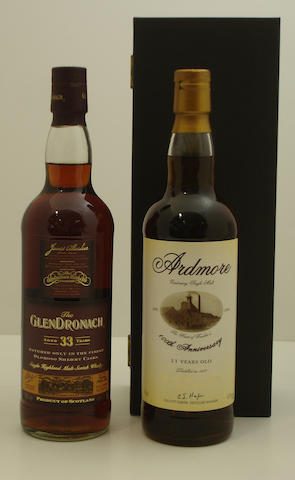 Glendronach-33 year old<BR /> Ardmore Centenary-21 year old-1977