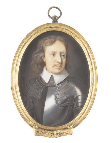 Christian Richter (Swedish, 1678-1732) Oliver Cromwell (1599-1658), Lord Protector of England (1653-1658), wearing suit of armour and white collar, his natural hair worn to his shoulders