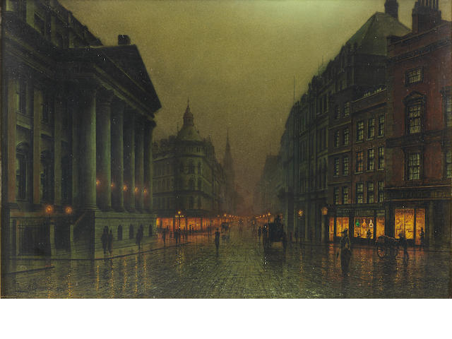 Louis H. Grimshaw (British, 1870-1944) The Mansion House, London