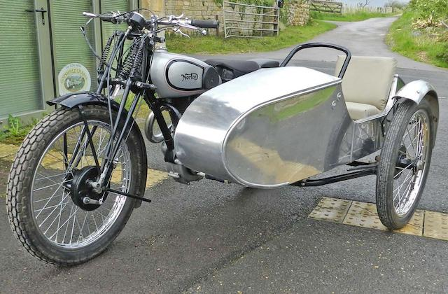 1939 Norton 500cc ES2 and trials sidecar Frame no. 108360 Engine no. 74087