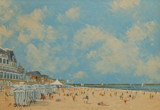 Pierre Stefani (French, born 1938) Low Tide, Trouville; and Low Tide, Cabourg