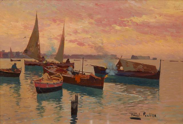 Fausto Pratella (Italian, 1888-1964) Il ritorno dei pescatori a Posillipo