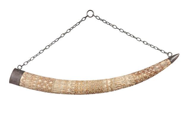 A large Western Grassfields ivory prestige tuskCameroon