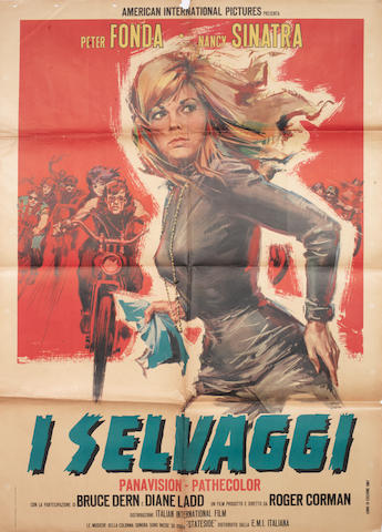 An 'I Selvaggi' (The Wild Angels) Italian film poster,
