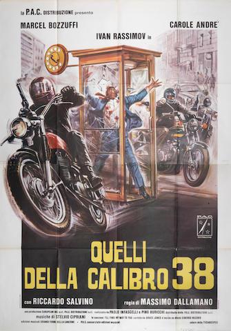 An Italian 'Quelli della Calibro 38' (Colt 38 Special Squad) film poster,