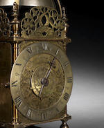 An interesting and rare mid 17th century lantern clock Peter Closon Nere Holborne Bridge Fecit