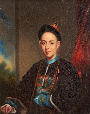 Lam Qua - 'Hong Merchant', oil on canvas