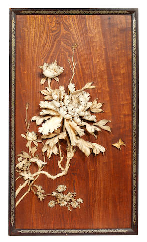 A Japanese elm wood panel