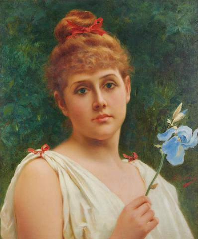 Tito Conti (Italian, 1842-1924) Iris