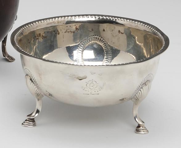 A George III Irish silver circular bowl by Matthew West, Dublin circa 1780