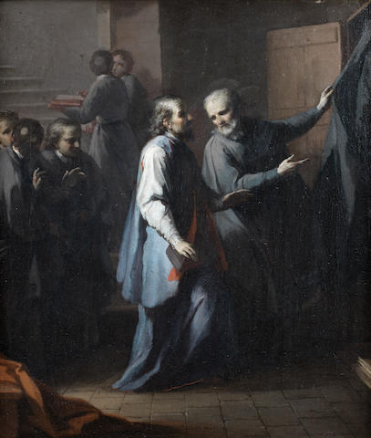 Circle of Giuseppe Maria Crespi (Bologna 1665-1747) The Sacrament of Confession