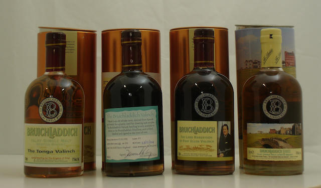 Bruichladdich The Tonga Valinch-1989<BR /> Bruichladdich Valinch-1990<BR /> Bruichladdich Valinch-1989<BR /> Bruichladdich Links-10 year old