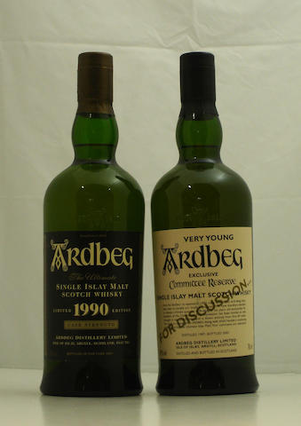 Ardbeg-1990  Ardbeg Very Young-1997