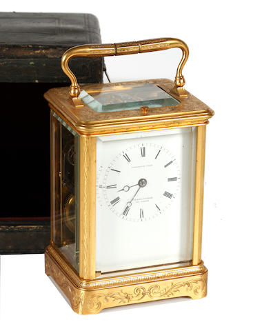 A 19th Century brass carriage clock
