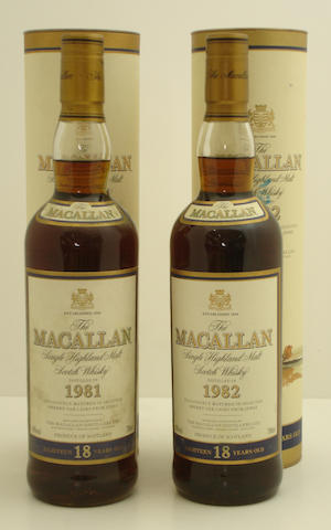 The Macallan-18 year old-1981  The Macallan-18 year old-1982