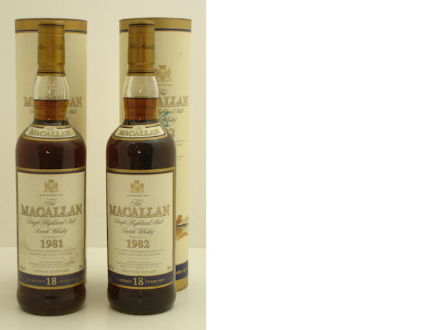 The Macallan-18 year old-1981<BR /> The Macallan-18 year old-1982