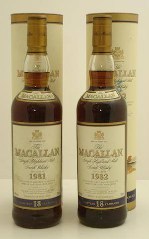 The Macallan-18 year old-1981<BR /> The Macallan-18 year old-1982