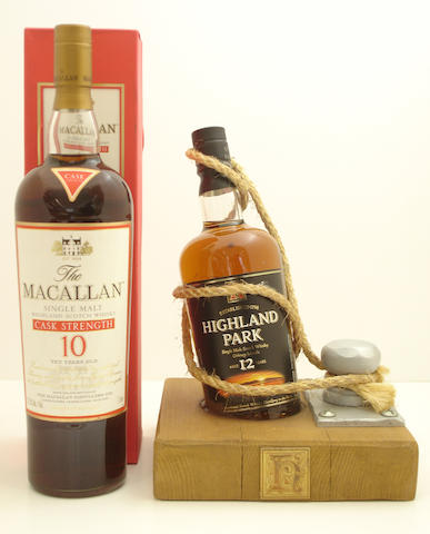 The Macallan-10 year old<BR /> Highland Park-12 year old