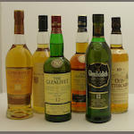 Glenmorangie Original<BR /> Rosebank-12 year old<BR /> The Glenlivet-12 year old<BR /> The Glenlivet-18 year old<BR /> Glenfiddich-12 year old<BR /> Old Fettercairn-10 year old