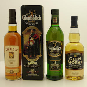 Aberlour-10 year old.  Glenfiddich-12 year old (3) .  Glen Moray