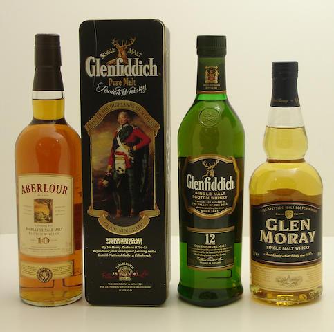 Aberlour-10 year old<BR /> Glenfiddich-12 year old (3) <BR /> Glen Moray