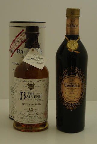 The Balvenie Single Barrel-15 year old<BR /> Glenfiddich Excellence-18 year old