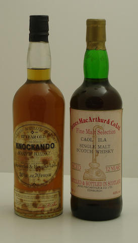 Knockando-12 year old-1964<BR /> Caol Ila-12 year old
