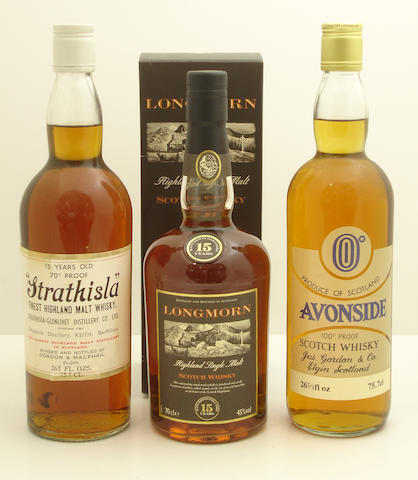 Strathisla-15 year old  Longmorn-15 year old  Avonside