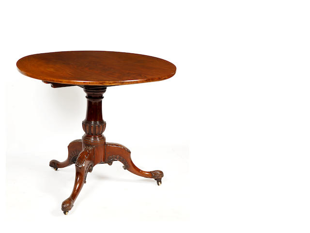 A George III mahogany circular top tripod table