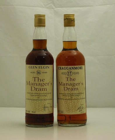Glen Elgin-16 year old<BR /> Cragganmore-17 year old