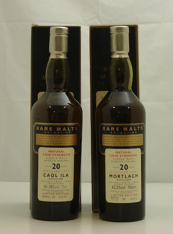 Caol Ila-20 year old-1975<BR /> Mortlach-20 year old-1978