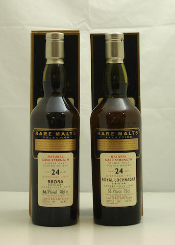 Brora-24 year old-1977<BR /> Royal Lochnagar-24 year old-1972