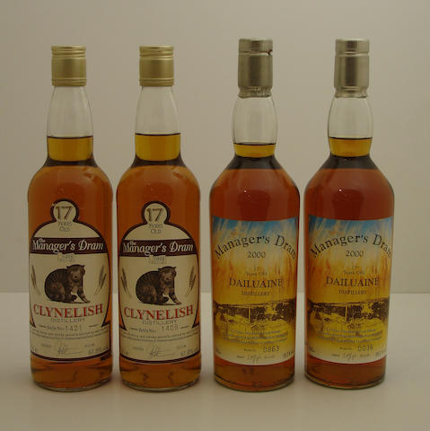 Clynelish-17 year old (2)   Dailuaine-17 year old (2)