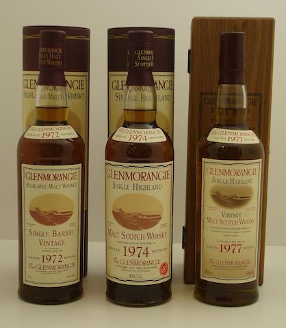 Glenmorangie Single Barrel Vintage-1972<BR /> Glenmorangie-1974<BR /> Glenmorangie Vintage-1977