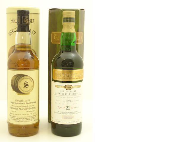 Aberfeldy-19 year old-1978<BR /> Aberfeldy-21 year old-1978