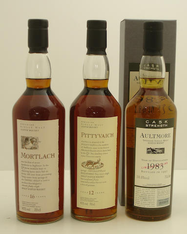 Mortlach-16 year old<BR /> Pittyvaich-12 year old<BR /> Aultmore-1983