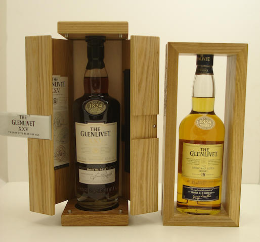 The Glenlivet XXV-25 year old<BR /> The Glenlivet-18 year old