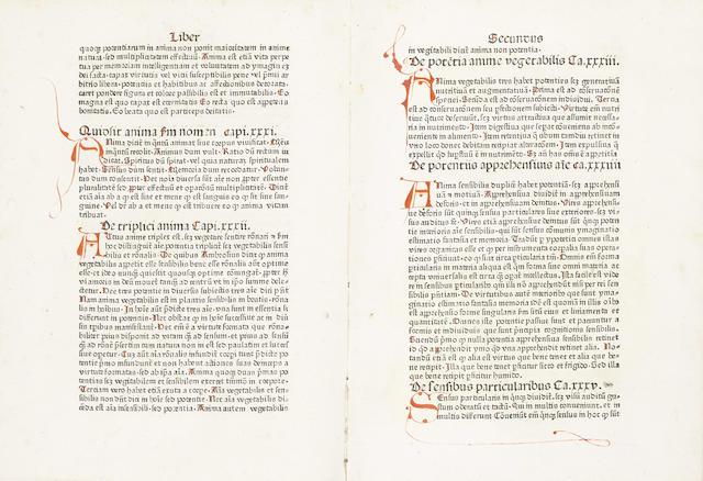 INCUNABULA ALBERTUS MAGNUS (Pseudo) Compendium theologicae vertitatis, incomplete, 1478-1480