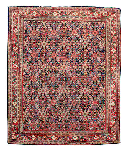 A Mahal carpet, West Persia, 395cm x 128cm
