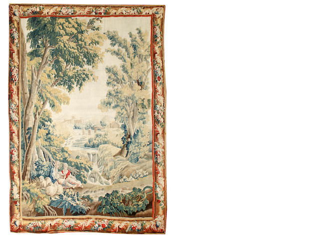 A Brussels 18th Century verdure tapestry 270 x 220cm.