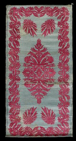 Two Ottoman Scutari voided velvet Panels Turkey, 19th Century(2)
