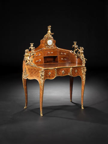 Early 19th Century French parquetry lady's writing desk, signed Millet a Paris