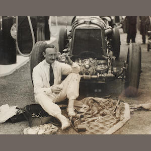 Six images of Birkin's 4 ½ Litre Supercharged Single-Seater Bentley,