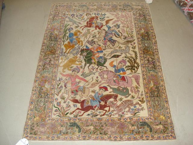 An Isfahan rug, Central Persia, 145cm x 100cm