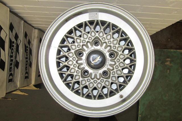 """Four 7 x 15"""" AM V8 BBS wheels,"""