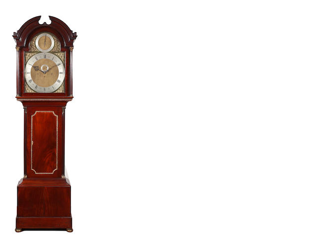 A late 19th century mahogany longcase clock