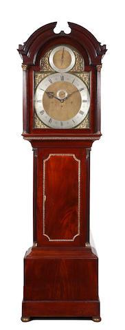 A late 19th century mahogany longcase clock