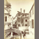 ITALY Album containing approximately 60 images chronicling a tour of Italy, 1880