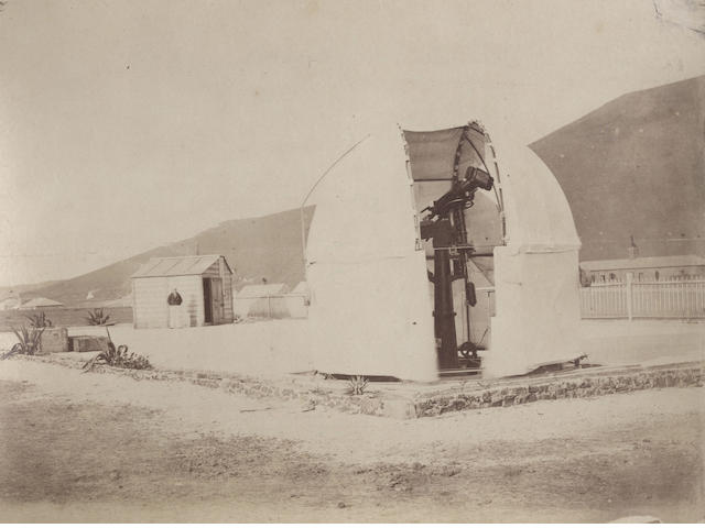 ASTRONOMY An album associated with the Gill family, most notably the Scottish astronomer, Sir David Gill, with views of the observatory at the Cape of Good Hope and Acension Island, [c.1877-1880]; together with 8 related and loosely inserted photographs (9)